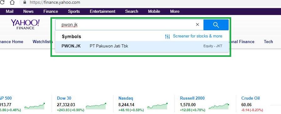 Cara Mencari Return Saham Di Yahoo Finance