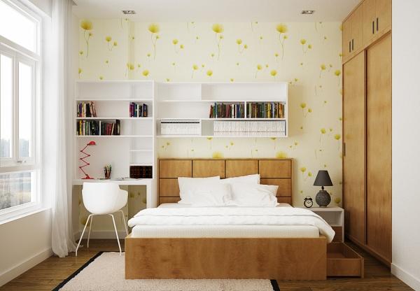 Phòng ngủ đẹp cho con gái với thiết kế tối giản, tiện nghi