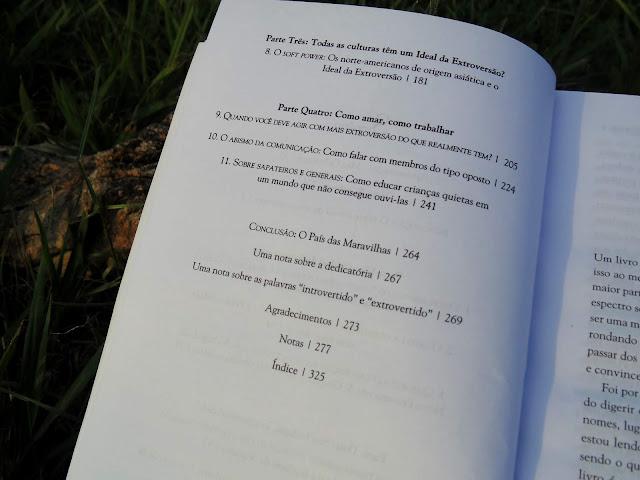 índice do livro O Poder dos Quietos escrito