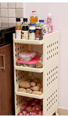Kurtzy Vertical Rack 4 Layer Storage Organizer