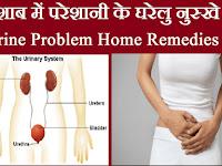 पेशाब में परेशानी के घरेलु नुस्खे – Urine Problem Home Remedies