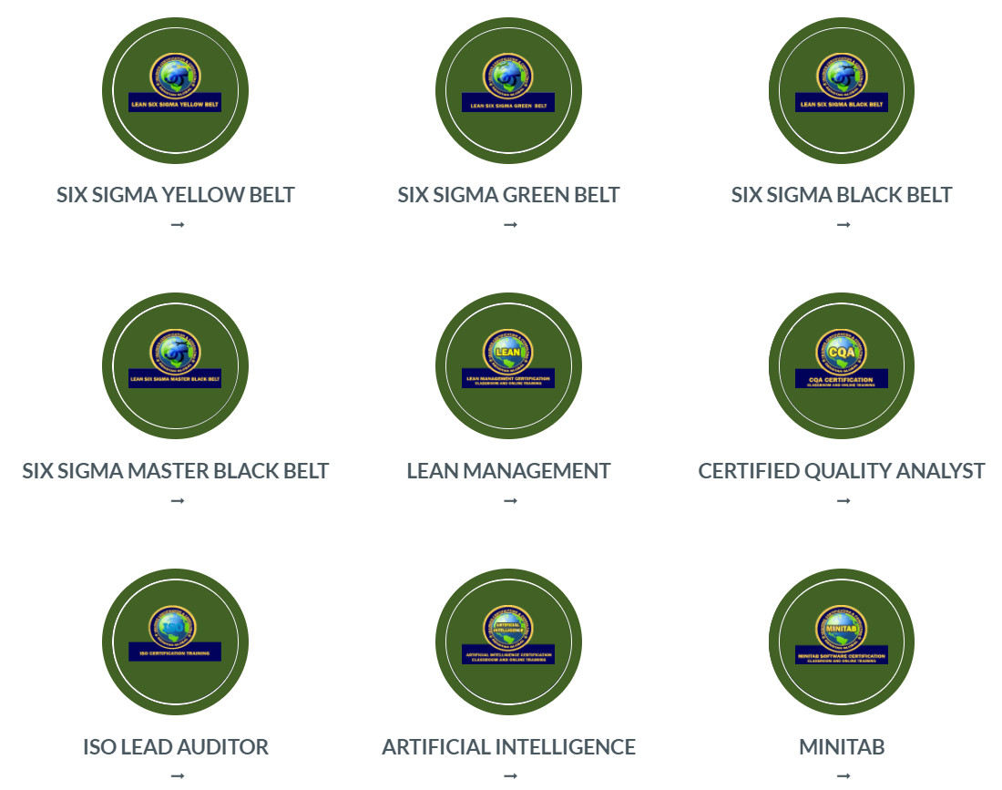 Lean|Six Sigma|ISO|CQA|Training|Certification|consultant (gengyan.org)