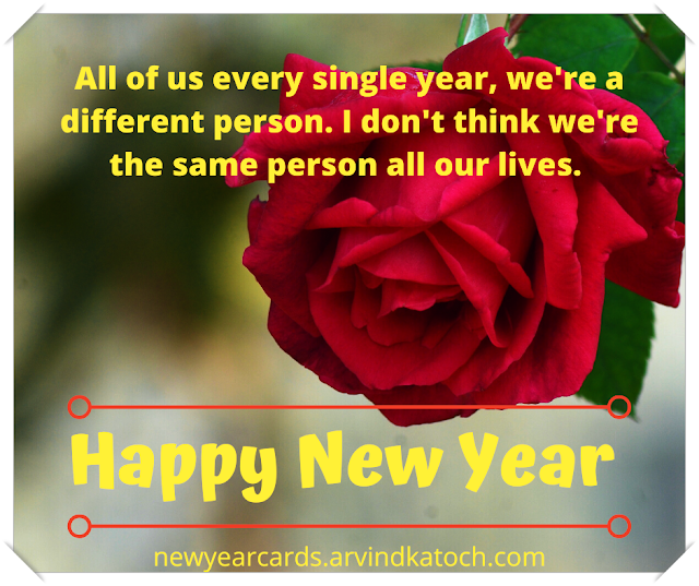 New Year, Card, different person, lives, Steven Spielberg