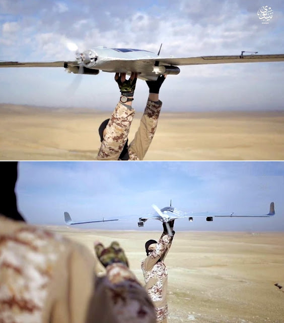 Image Attribute: On January 24, 2017, the media center of the Islamic State's Nineveh Province released a propaganda video, in which it documented the group's use of weaponized UAVs, including a Skywalker X8 FPV fixed-wing UAV.