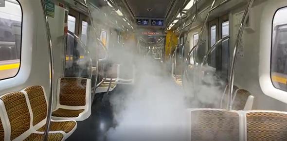 Nebulização combate coronavírus nos trens da Linha 4-Amarela do Metrô em São Paulo