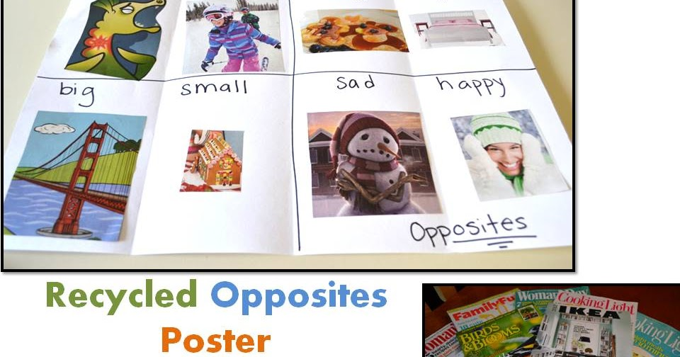 Learn And Grow Designs Website Opposites Activity Using