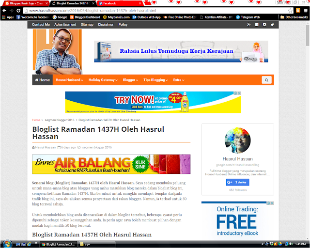 Siapa Blogger Hasrul Hassan ni?
