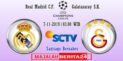 Prediksi Real Madrid vs Galatasaray — 7 November 2019