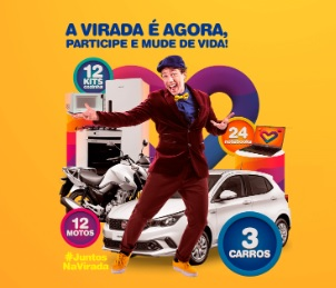 Cadastrar Promoção Juntos na Virada TV e Rádio  Bandeirantes Mais de 400 Mil Reais Prêmios