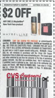 "Maybelline New York Face product Coupon from ""RetailMeNot"" insert week of 1/5/20."