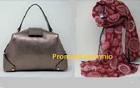 Logo Vinci gratis borsa in pelle Loristella e sciarpa in lana ricamata
