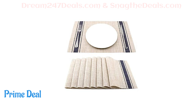 18 x 12 Soft Woven Vinyl Placemat Wipe 30% OFF