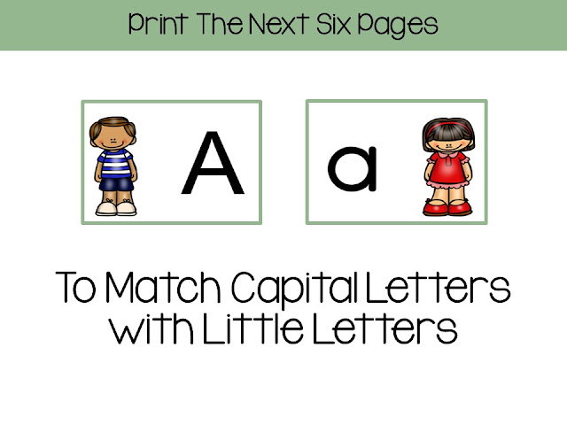 Alphabet Matching Centers With a Jack and Jill Theme