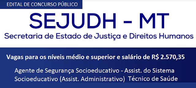 Edital Concurso Público SEJUDH 2018
