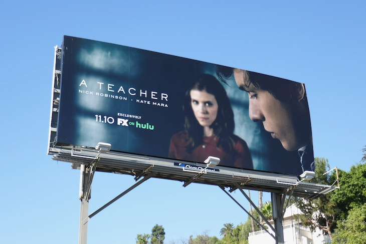 A Teacher series premiere billboard
