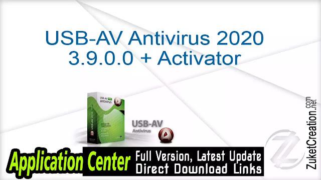 USB-AV Antivirus 2020 3.9.0.0 + Activator