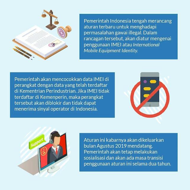 Aturan Terbaru Pemerintah Illegal IMEI Dalam Negeri