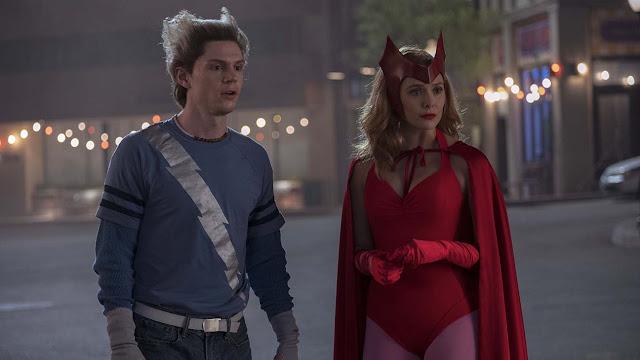 Elizabeth Olsen Evan Peters | Marvel's WandaVision | Scarlet Witch Quicksilver | Disney Plus