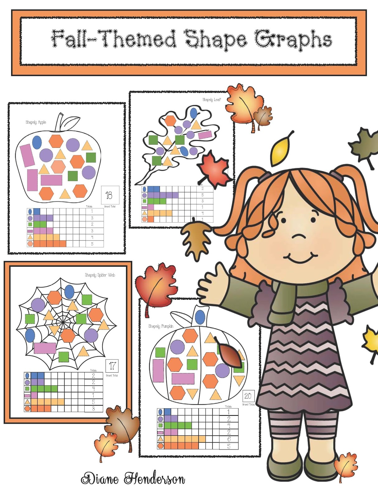 Shapely Fall Themed Graphing Activities