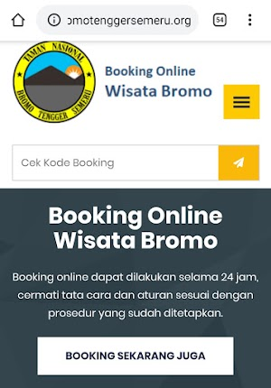 Alamat Web Situs Booking Online Masuk Gunung Bromo