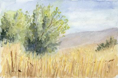 art watercolor landscape nature