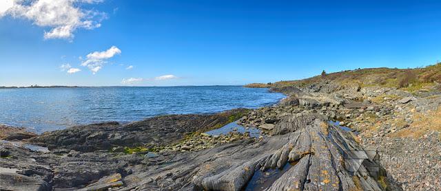 Morze w Haugesund - Panorama Haugesund i morze Północne