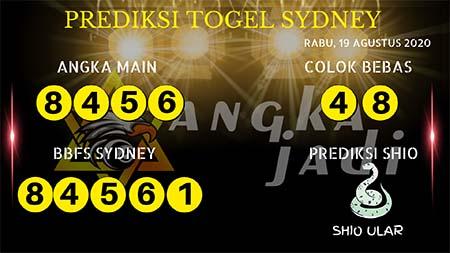 Prediksi Angka Jitu Sydney Rabu 19 Agustus 2020