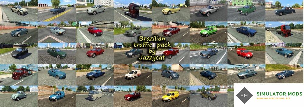 Brazilian Traffic Pack by Jazzycat v2 0 [ETS2 1 28 x] - ETS2