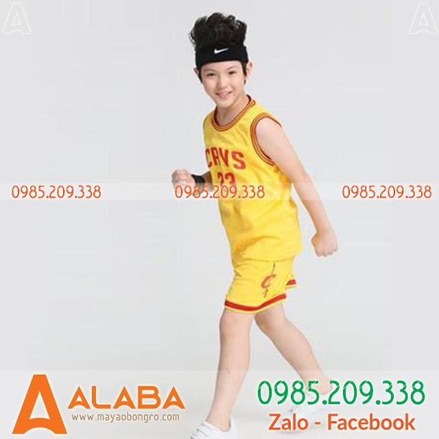 Áo bóng rổ thể thao trẻ em hot