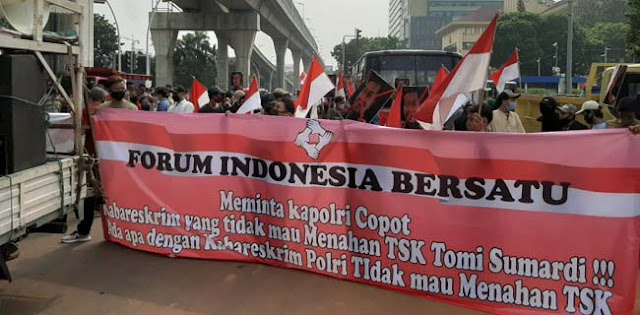 Forum Indonesia Bersatu Desak Kapolri Tahan Tommy Sumardi