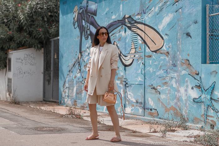 Tendencias streetstyle de verano: Traje con bermudas de zara