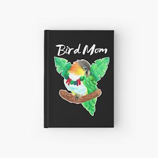 caique parrot bird mom hardcover journal