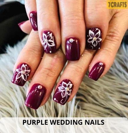 Purple Wedding nails trends 2021