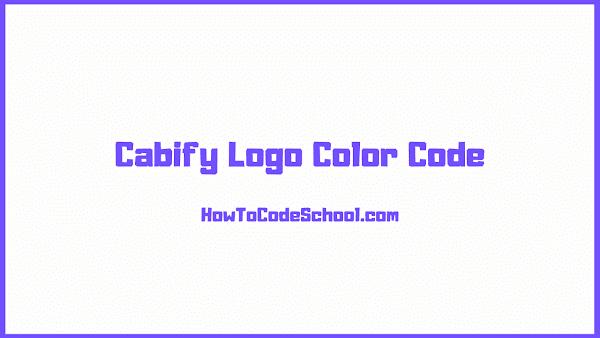 Cabify Logo Color Code