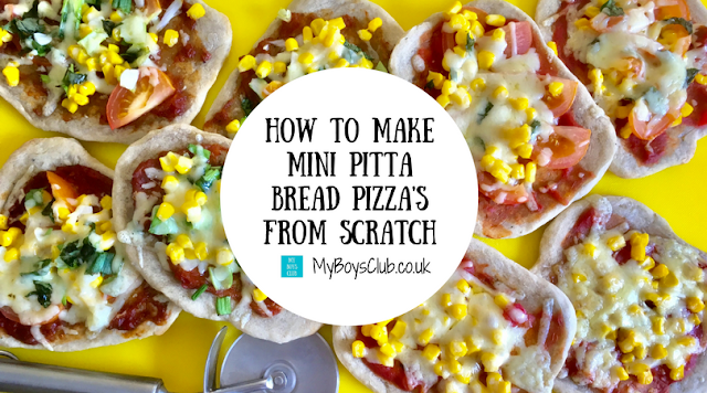How to make Mini Pitta Bread Pizza's from scratch