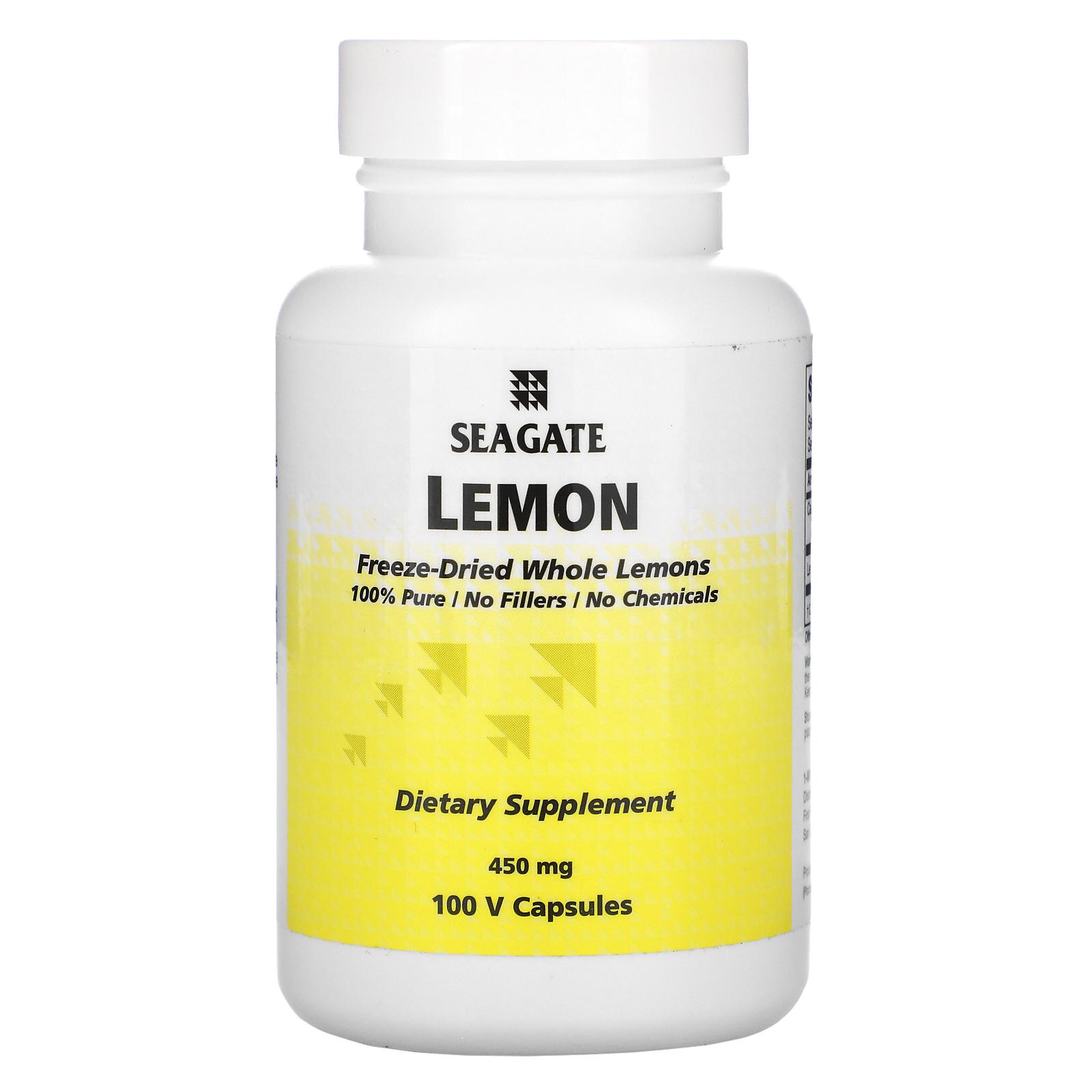 Seagate, Лимон, 450 мг, 100 растительных капсул