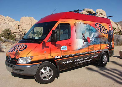The PaddleAir Team Ergo Demo Van