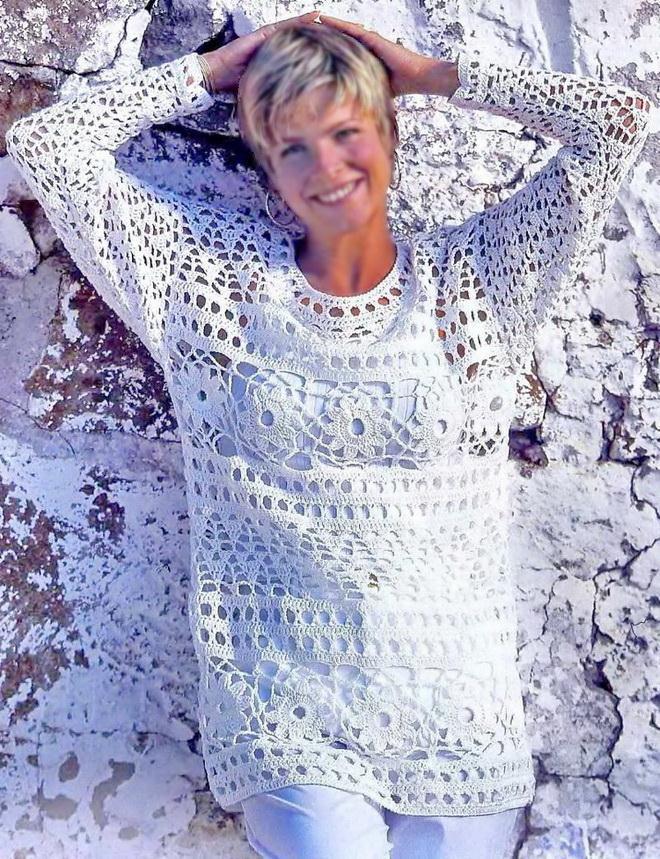 Crochet Lace Tunic For Women - Fabulous