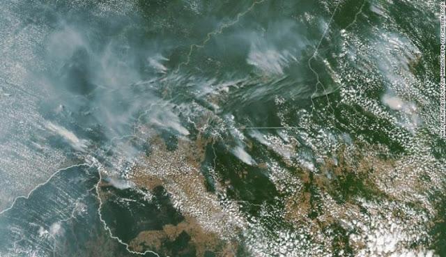 Kebakaran Hutan Amazon Dapat Dilihat dari Satelit NASA