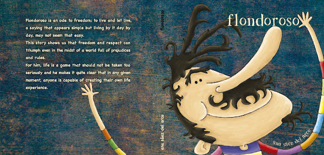 """Ilistración-Flondoroso-cover page-ana sáez del arco-illustration-Flondoroso portada"""