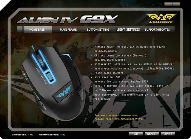 First Look & Review - Armaggeddon Alien IV G9X Optical Gaming Mouse 36