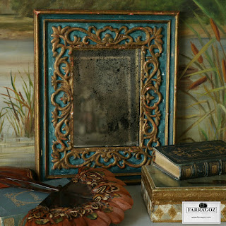 how to make new frame look like an antique