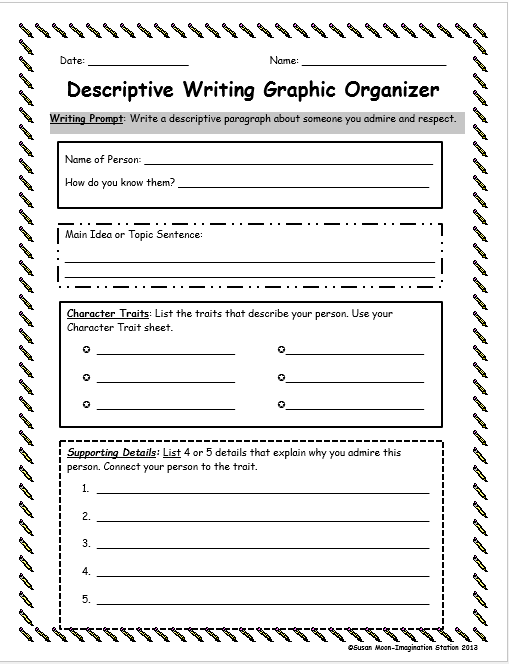 Descriptive essay graphic organizer
