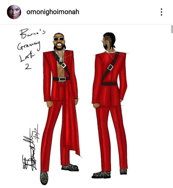 Double Wahala As Fashion illustrator Accuses Burna Boy Of Stealing Her Designs