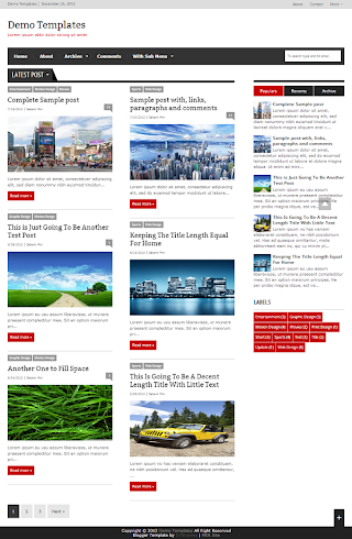 Extra News Red Blogger Template