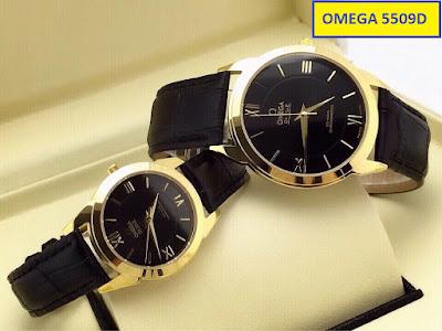 đồng hồ nữ dây da omega 5509