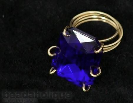 Wire Prong Set Crystal Ring Tutorial - The Beading Gem\'s Journal