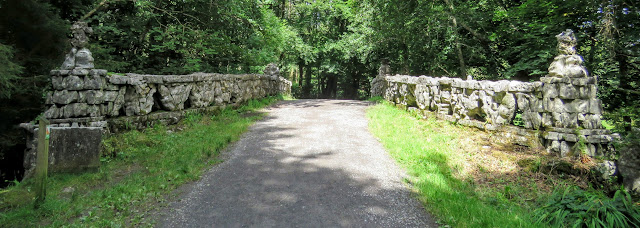 Old stone bridge at Lough Key Forest Park in County Roscommon, Ireland