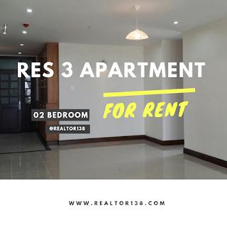căn hộ 02 phòng ngủ chung cư RES 3