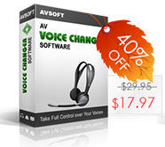 Coupon 40% for Voice Changer Software basic
